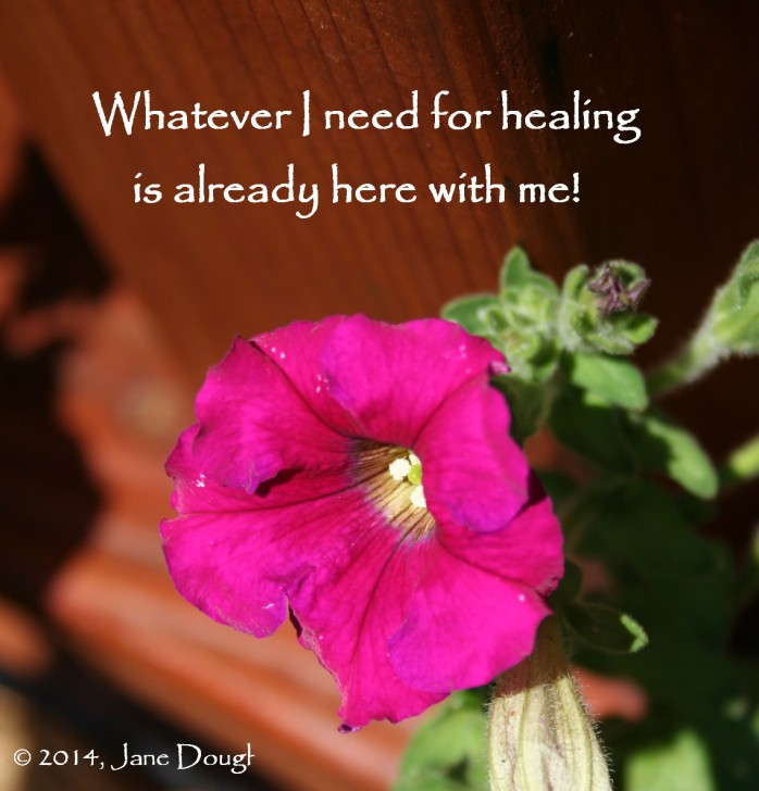 I have what I need to heal